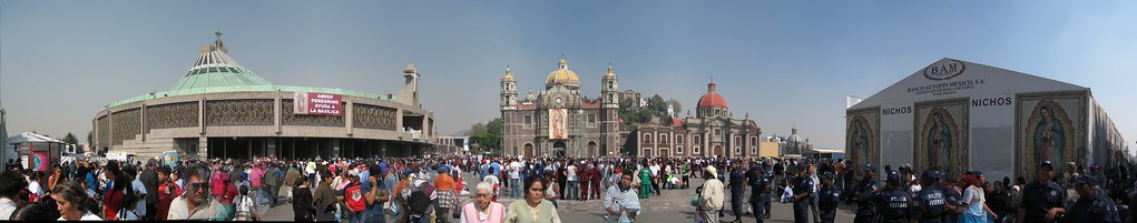 Basilica panorama, Mexico City