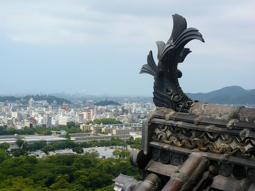 View from top of Himeji Castle