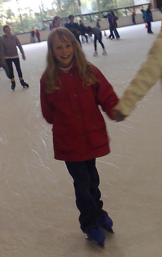 Caitlin ice-skating