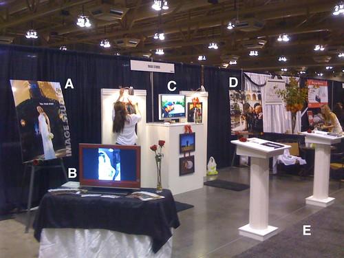 Bridal show setup
