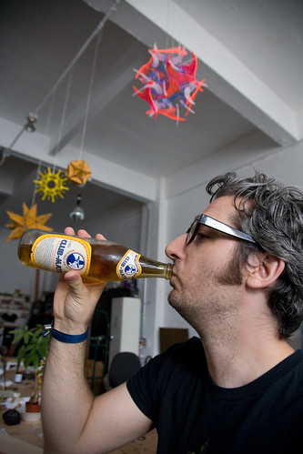 Bre Pettis Enjoying A Club-Mate