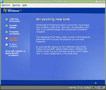 windows gui install welcome