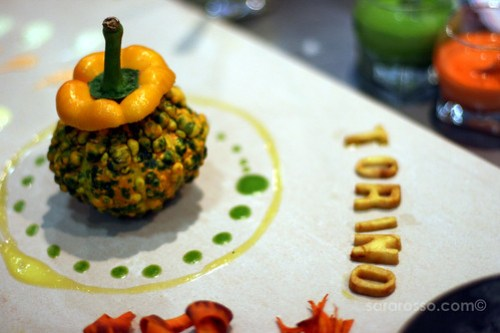 Some artful presentation at Salone del Gusto in Turin