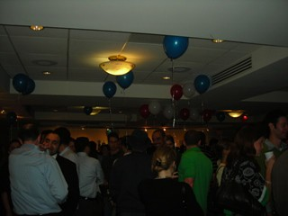 Patriotic balloons give the election party a festive feel / photo taken by Rachel Mauro