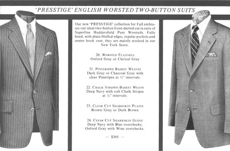 Presstige English Worsted Tw0-Button Suits