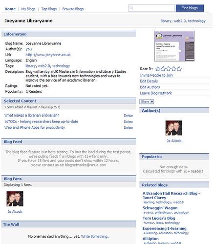 Facebook Blog Networks