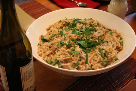 Mushroom and Green Bean Risotto