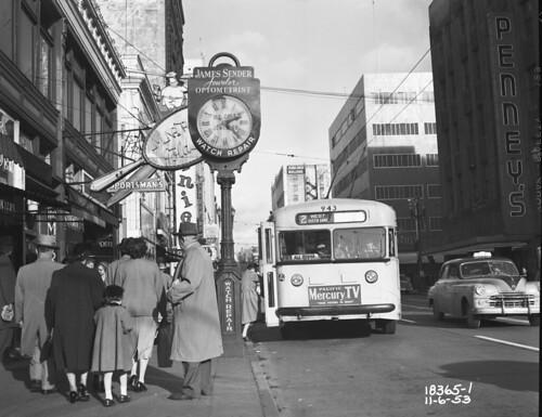 City bus, 1953 via Seattle Municipal Archives @ flickr