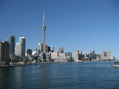 Toronto Skyline from the Toronto Islands Airport Ferry