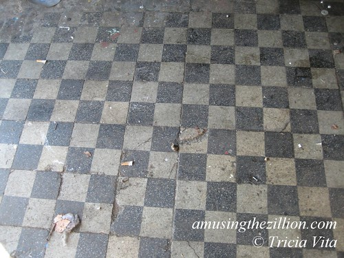 Tile floor in historic Feltman's kitchen on Astroland property, Jan 31, 2009. Photo © Tricia Vita/me-myself-i via flickr