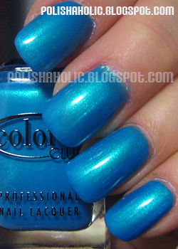 Shimmery blues and greens are perfect for summer, they sparkle under water giving off kind of a fish-scale effect.