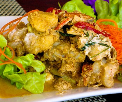 Homock Talay - Red curry Seafood with coconut milk and thai herbs by you.