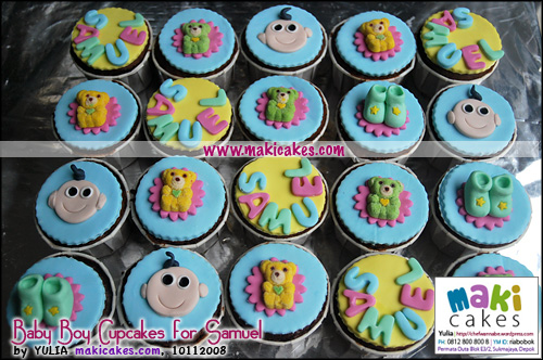 Baby Boy Cupcakes for Samuel - Maki Cakes