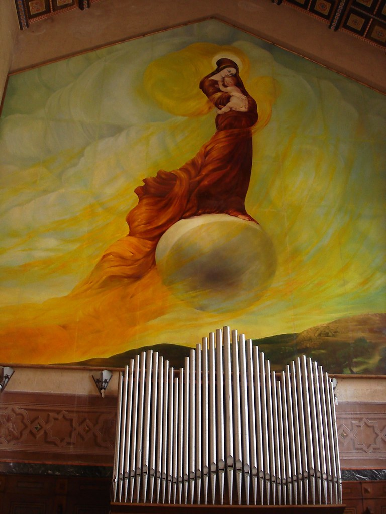 Mary floats above the music