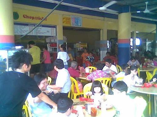 Chopsticks' lunchtime crowd