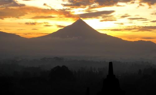 sunrise over Merapi