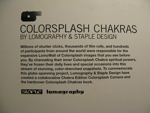 COLORSPLASH CHAKRAS by LOMOGRAPHY & STAPLE DESIGN