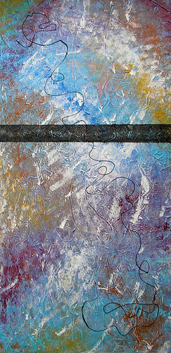 Fluito mixed media/acrylic on canvas, 15x30