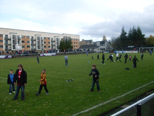 Kids on the Pitch at Half-Time