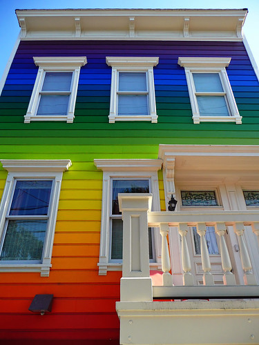 Rainbow House On Clipper St.