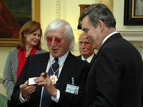 Gordon Brown and Sir Jimmy Savile
