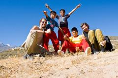 Wir mit den Chicos auf dem Cerro de San Juan