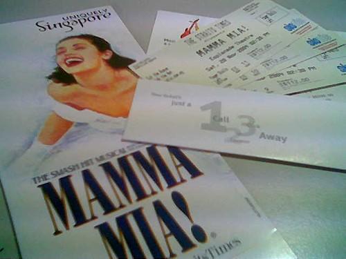 Mamma Mia brochure & tickets