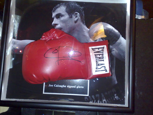 Joe Calzaghe boxing glove
