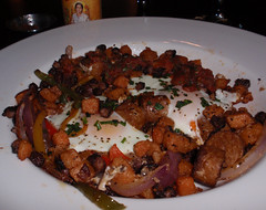 plate of sweet potato hash