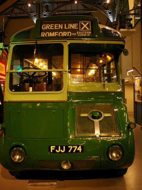London Transport vintage bus - love its retro future styling
