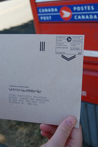 a mailbox.
