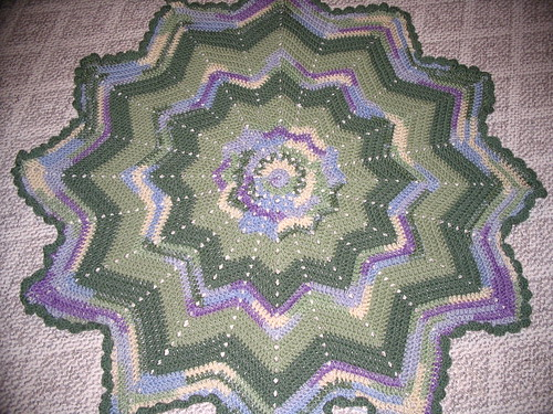 Watercolors Round Ripple Afghan