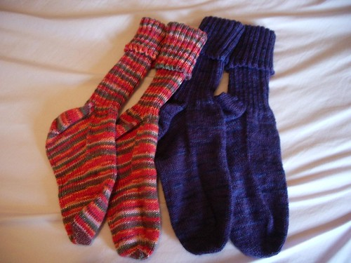 Two pairs of very warm and cosy but pretty boring socks