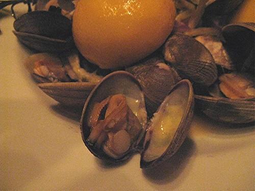 clams at Palace Kitchen