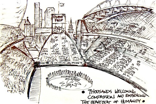 Steven Wright's capture of the Qwest Field Seeds of Compassion Event