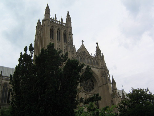 National Cathedral's seen from the Bishop's Garden