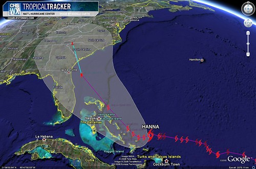 Tropical Storm Hanna - Projected Path