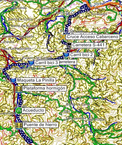 Mapa Via Verde del Pas