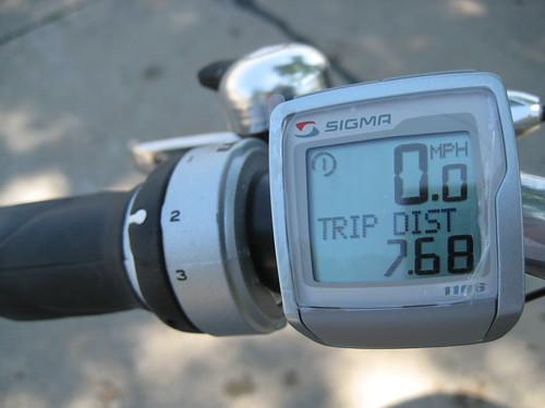 Sigma bike computer 7.68 miles