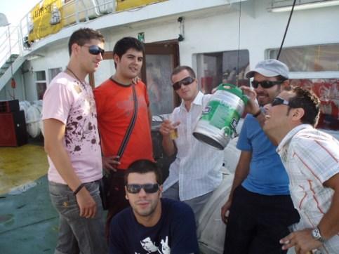 De camino a Ibiza con mis amigos