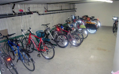 Full Bike Room at aork