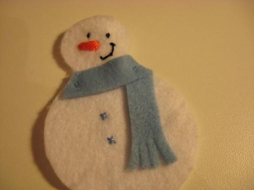 Homem de neve de feltro