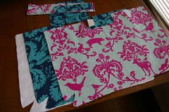 Fabrics all cut up