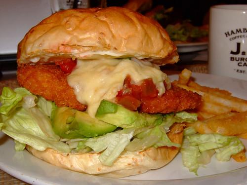 Salsa Fish Burger