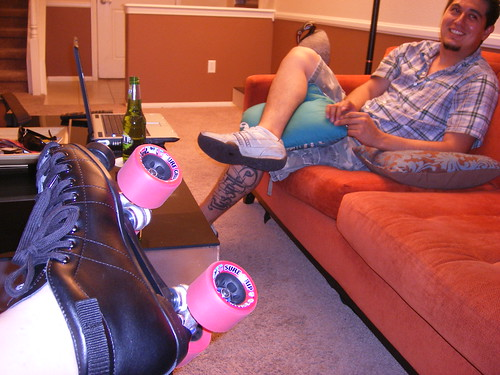 New roller skates and Jorge