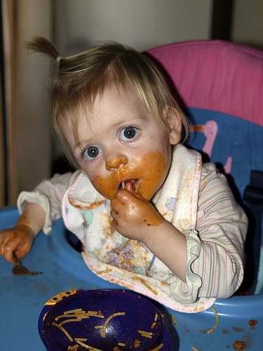 Tilly Eating spag Bol