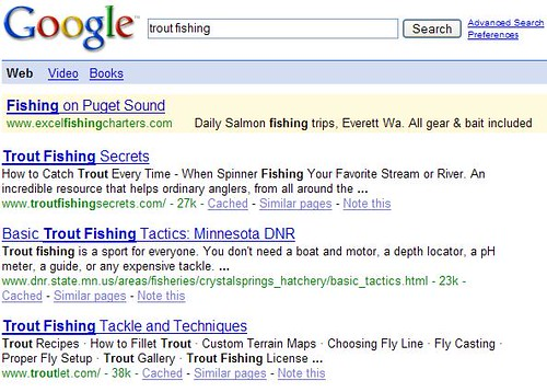 Google Reader - Google Results - Trout Fishing