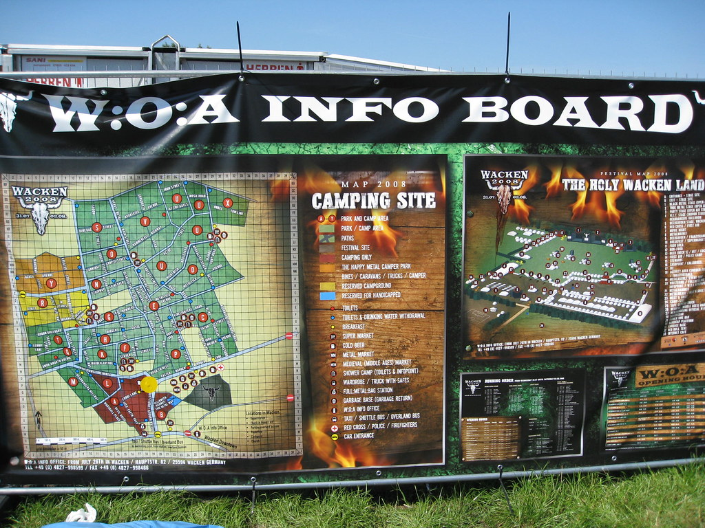 Map of Wacken Open Air... the place is IMMENSE