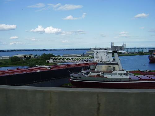 Ore boats docked