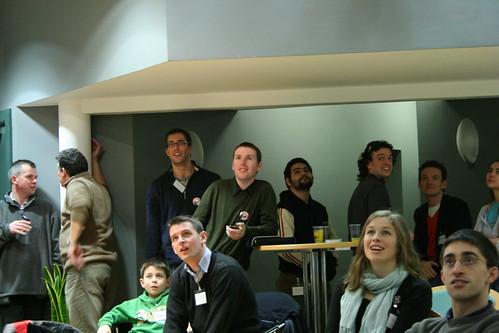 Watching the big screen at CreativeCamp (Copyright of John Handelaar)